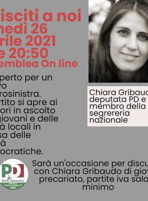 26/04 – Il PD Bra organizza un incontro con Chiara Gribaudo