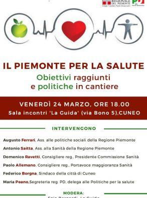 IL PIEMONTE PER LA SALUTE – Cuneo, 24 marzo ore 18.00