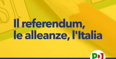 PD ASTI. Il referendum, le alleanze, l'Italia (5 settembre 2020 ore 10,00 Circolo Way Assauto)