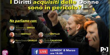 08/03 ore 18,00 – PD Rivoli – I Diritti delle Donne sono in pericolo?