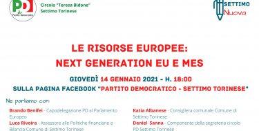 14/01 ore 18,00 – Settimo Nuova – Next Generation EU e MES