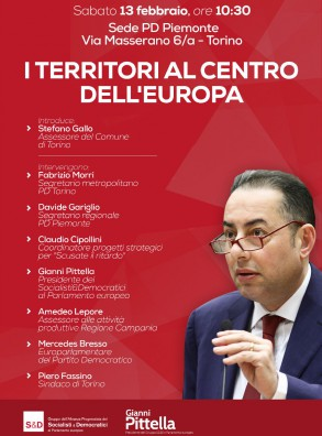 I territori al centro dell'Europa. Con On. Gianni Pittella