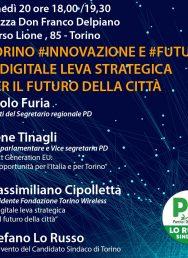 20/9 ore 18,00 – Torino #innovazione #futuri il digitale leva strategica per il futuro della città