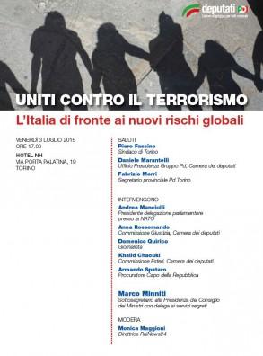 UNITI CONTRO IL TERRORISMO – L'Italia di fronte ai nuovi rischi globali