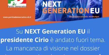 Su Next Generation EU il presidente Cirio è andato fuori tema