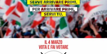 Per far crescere l'Italia serve arrivare primi. Per arrivare primi, servi tu
